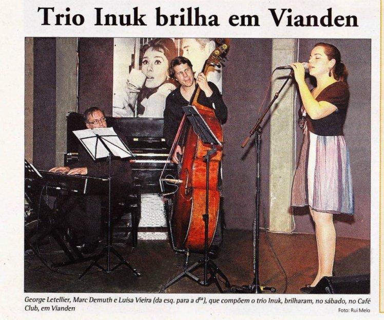Trio INUK brilha em Vianden, Jornal Contacto Abril 2012